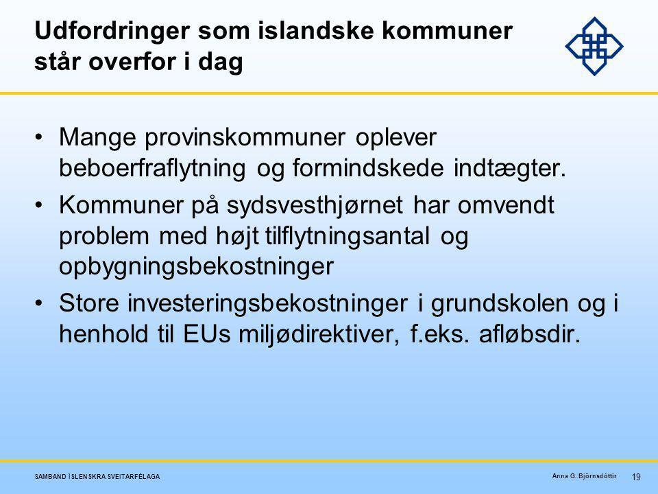 Udfordringer som islandske kommuner står overfor i dag