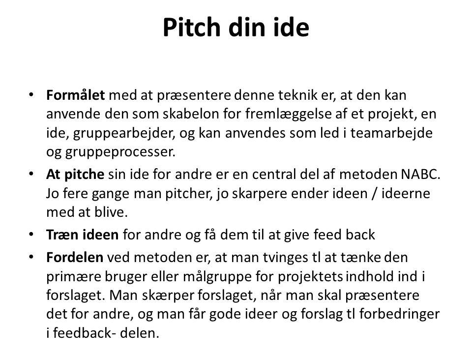 Pitch din ide