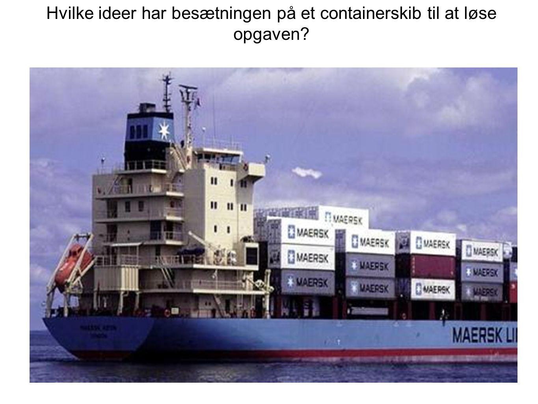 Hvilke ideer har besætningen på et containerskib til at løse opgaven