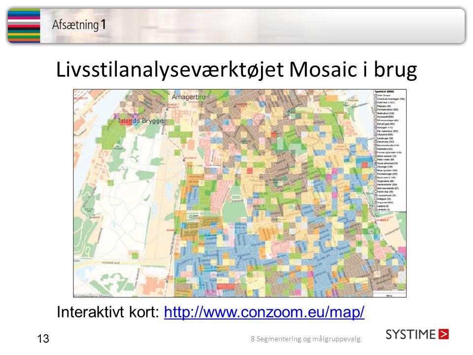 Livsstilanalyseværktøjet Mosaic i brug