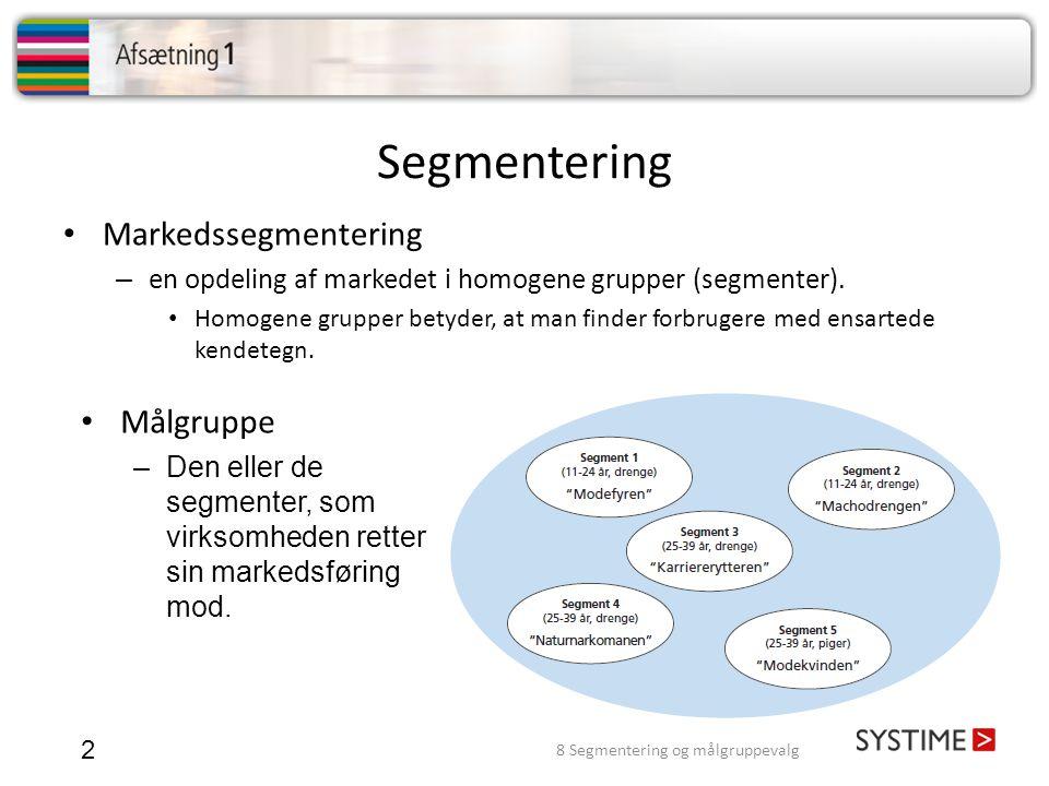 8 Segmentering og målgruppevalg