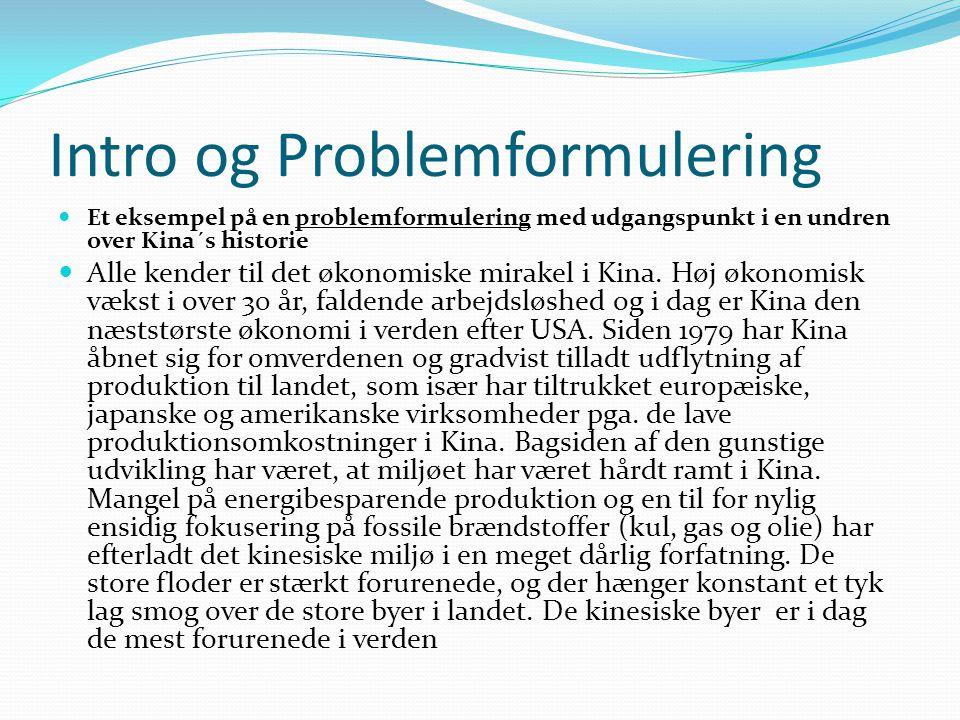 Intro og Problemformulering