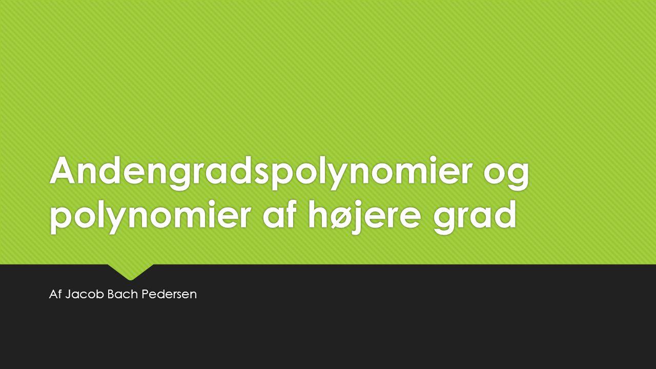 Andengradspolynomier og polynomier af højere grad