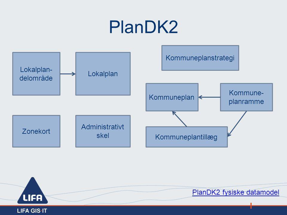 PlanDK2 Kommuneplanstrategi Lokalplan-delområde Lokalplan