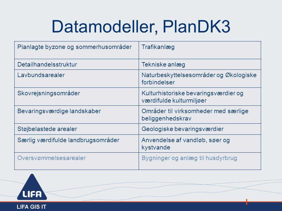 Datamodeller, PlanDK3 Planlagte byzone og sommerhusområder Trafikanlæg