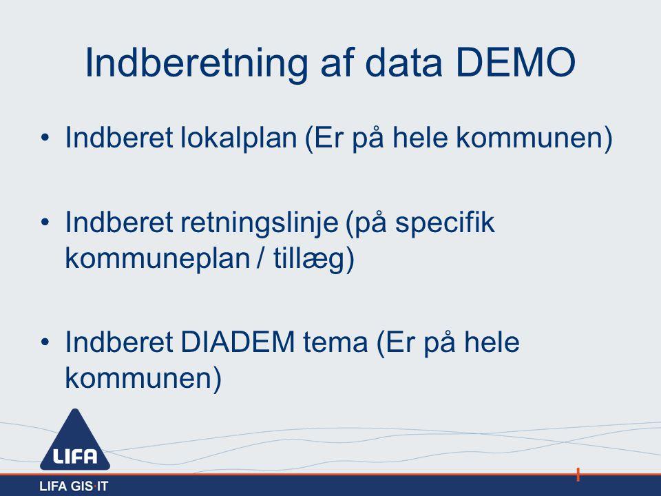 Indberetning af data DEMO