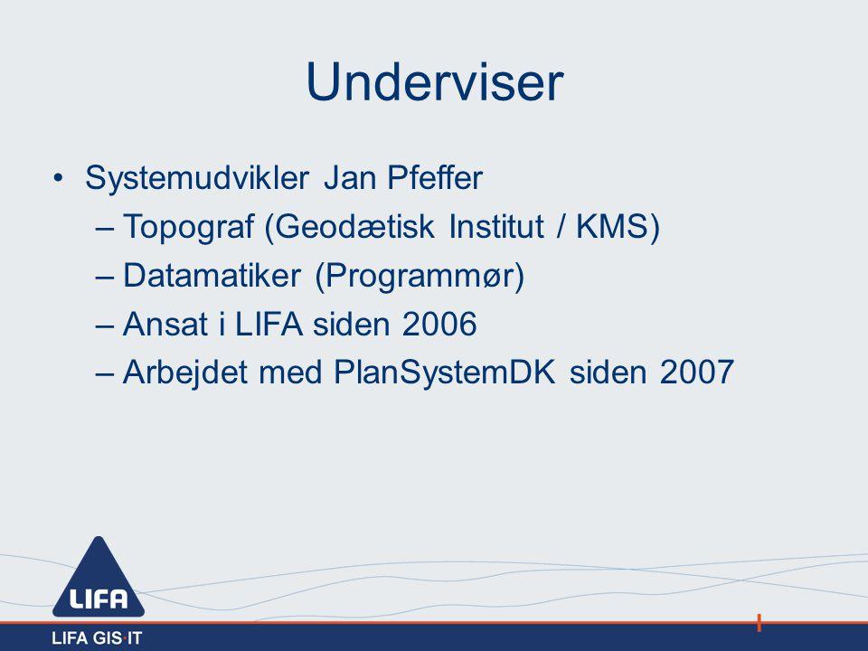 Underviser Systemudvikler Jan Pfeffer