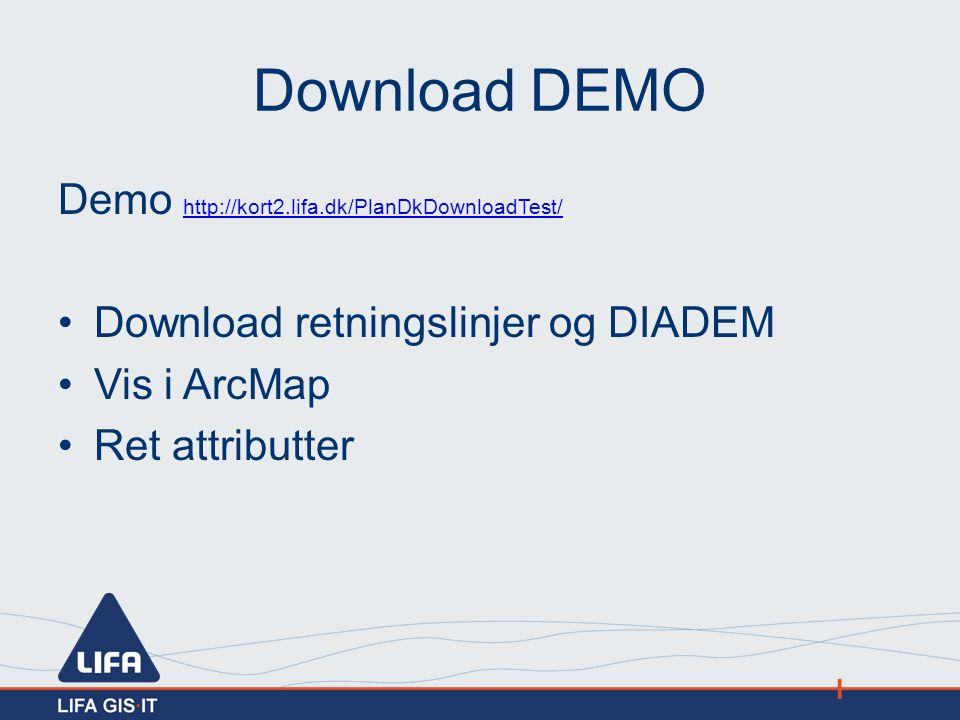Download DEMO Demo http://kort2.lifa.dk/PlanDkDownloadTest/