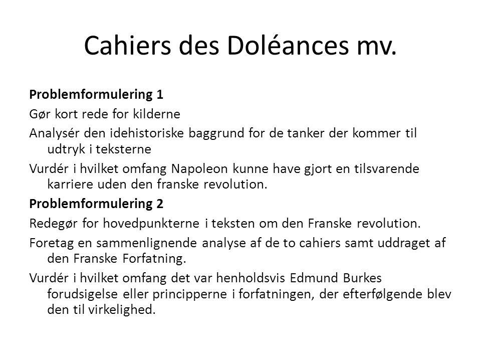 Cahiers des Doléances mv.