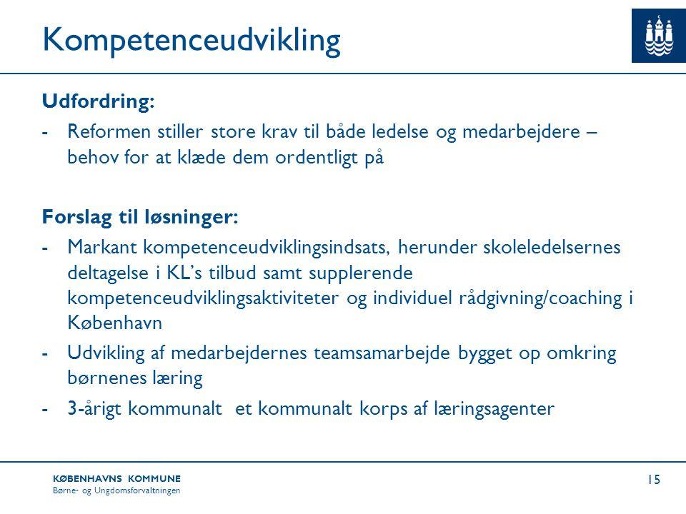 Kompetenceudvikling Udfordring: