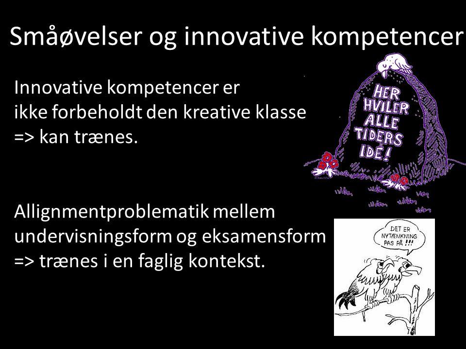 Småøvelser og innovative kompetencer
