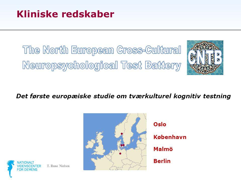 Kliniske redskaber Det første europæiske studie om tværkulturel kognitiv testning.