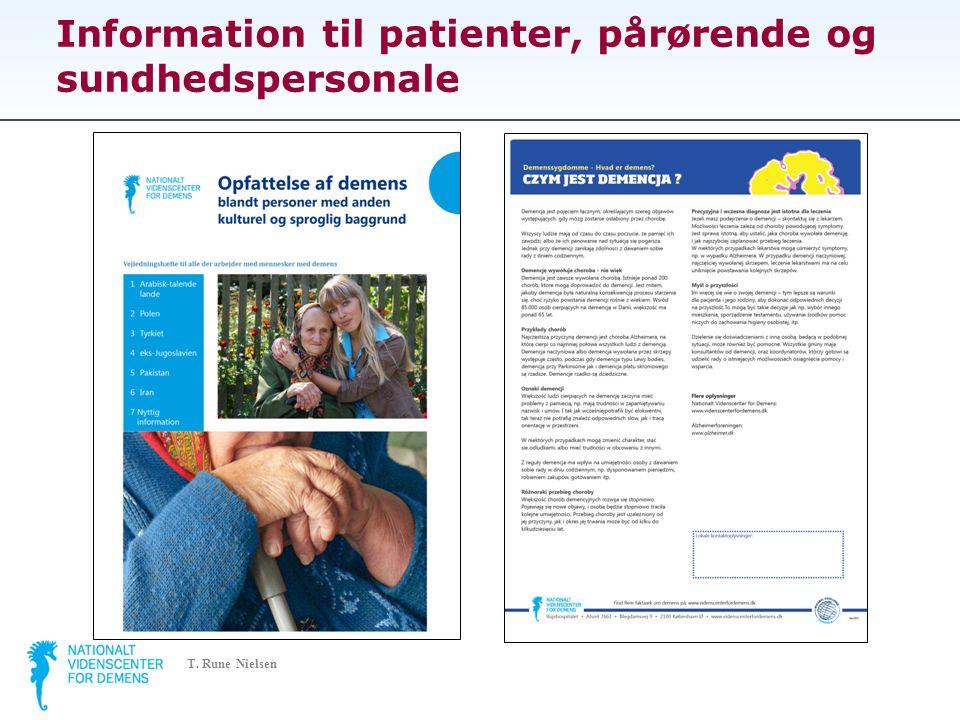 Information til patienter, pårørende og sundhedspersonale