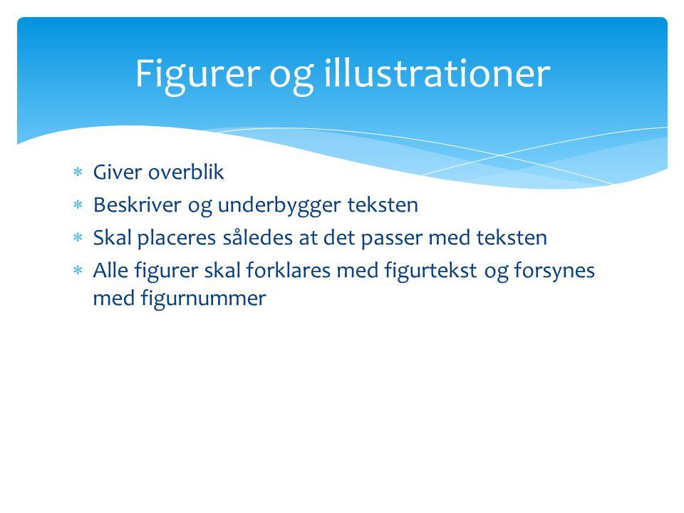 Figurer og illustrationer
