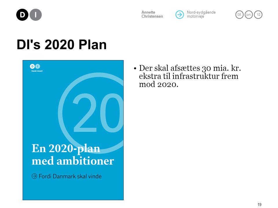 DI s 2020 Plan Der skal afsættes 30 mia. kr. ekstra til infrastruktur frem mod 2020.