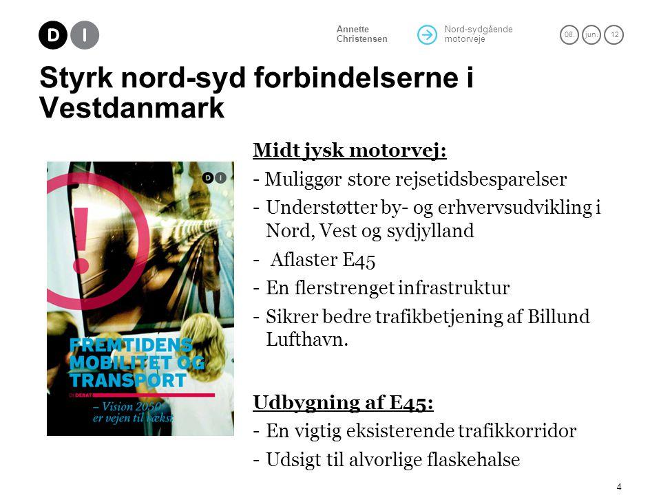 Styrk nord-syd forbindelserne i Vestdanmark