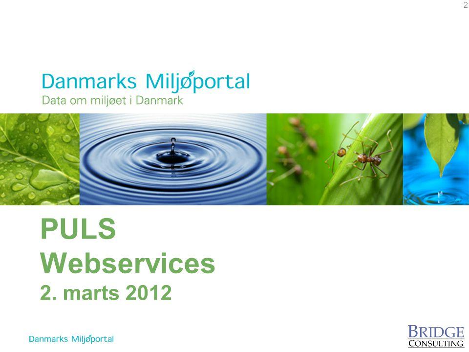 PULS Webservices 2. marts 2012