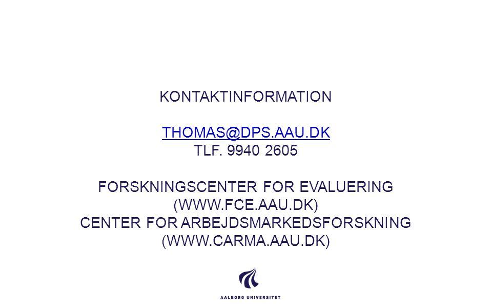 Kontaktinformation thomas@dps. aau. dk tlf