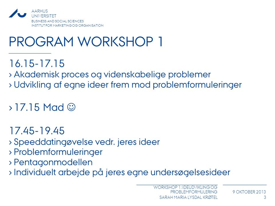 Program workshop Mad 