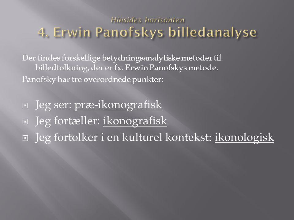 Hinsides horisonten 4. Erwin Panofskys billedanalyse