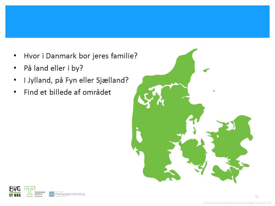 Hvor i Danmark bor jeres familie På land eller i by