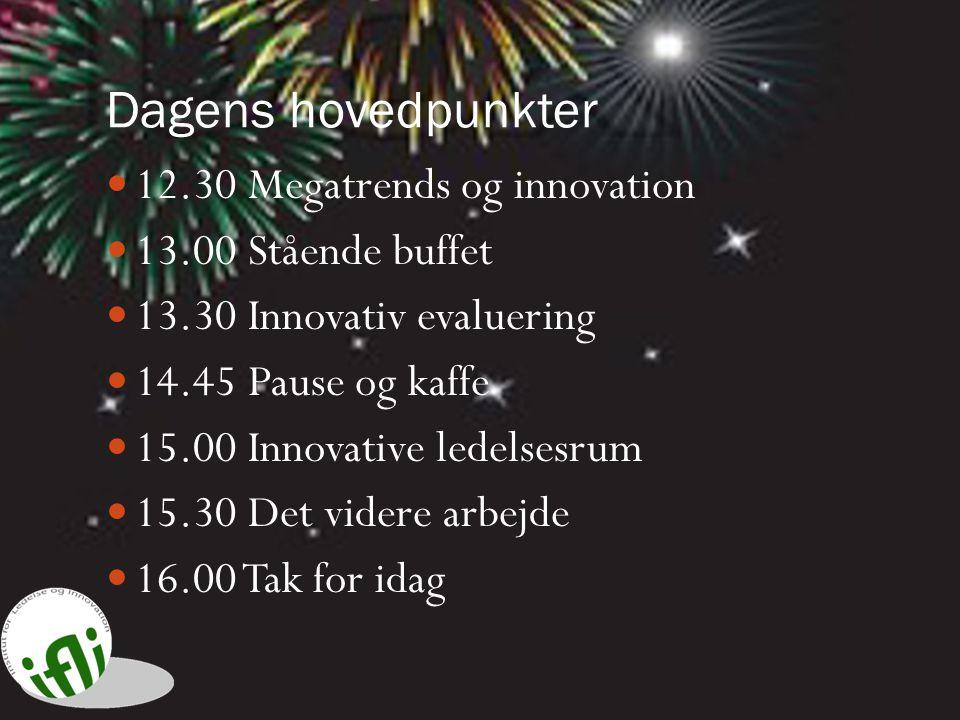 Dagens hovedpunkter 12.30 Megatrends og innovation