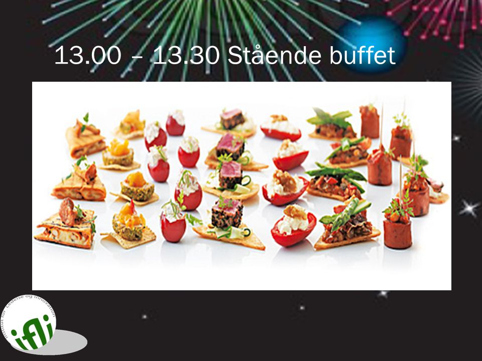13.00 – 13.30 Stående buffet 13.30 Innovativ evaluering