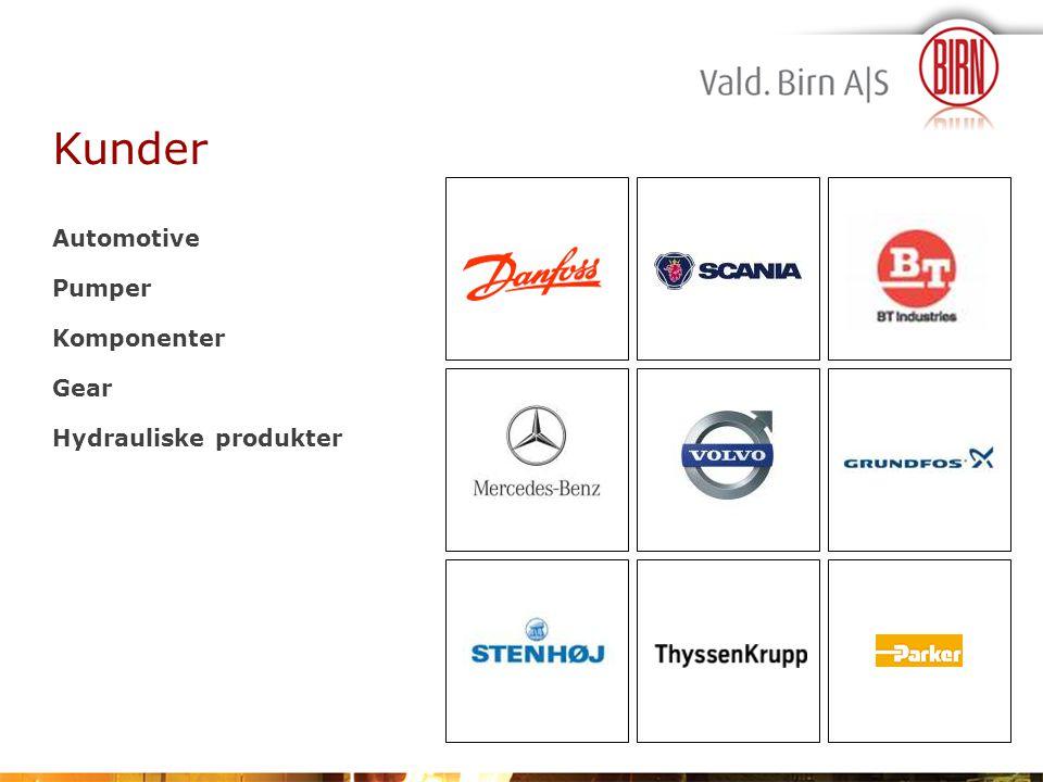 Kunder Automotive Pumper Komponenter Gear Hydrauliske produkter