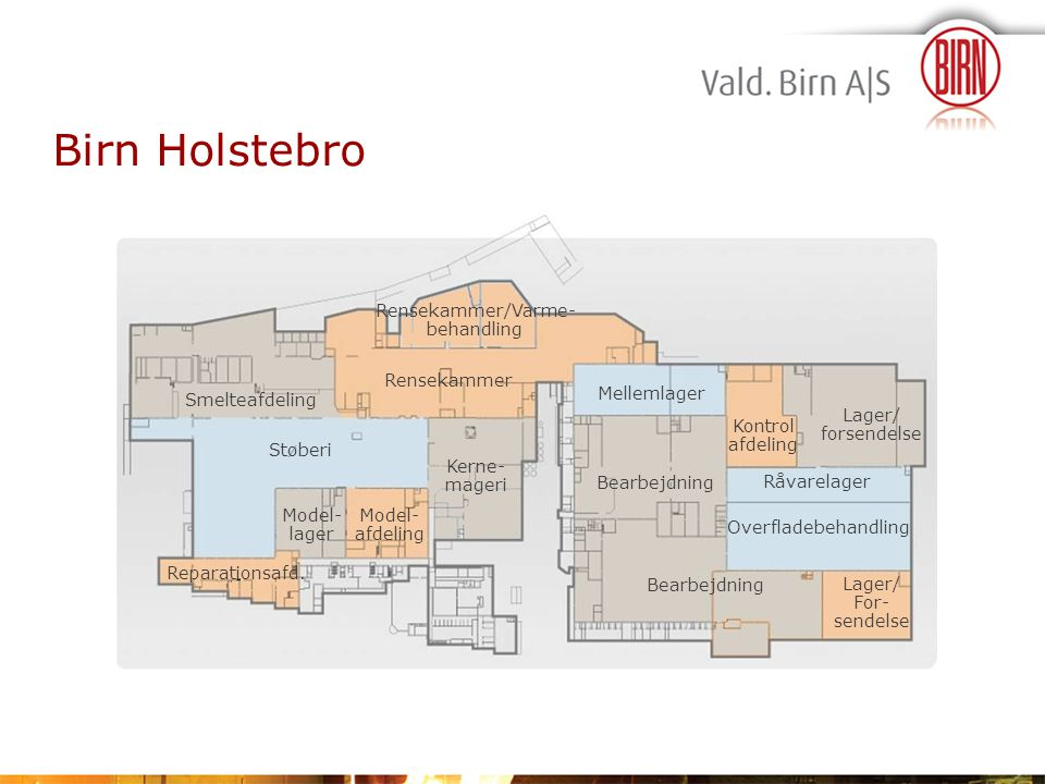 Birn Holstebro Støberi Smelteafdeling Rensekammer Rensekammer/Varme-