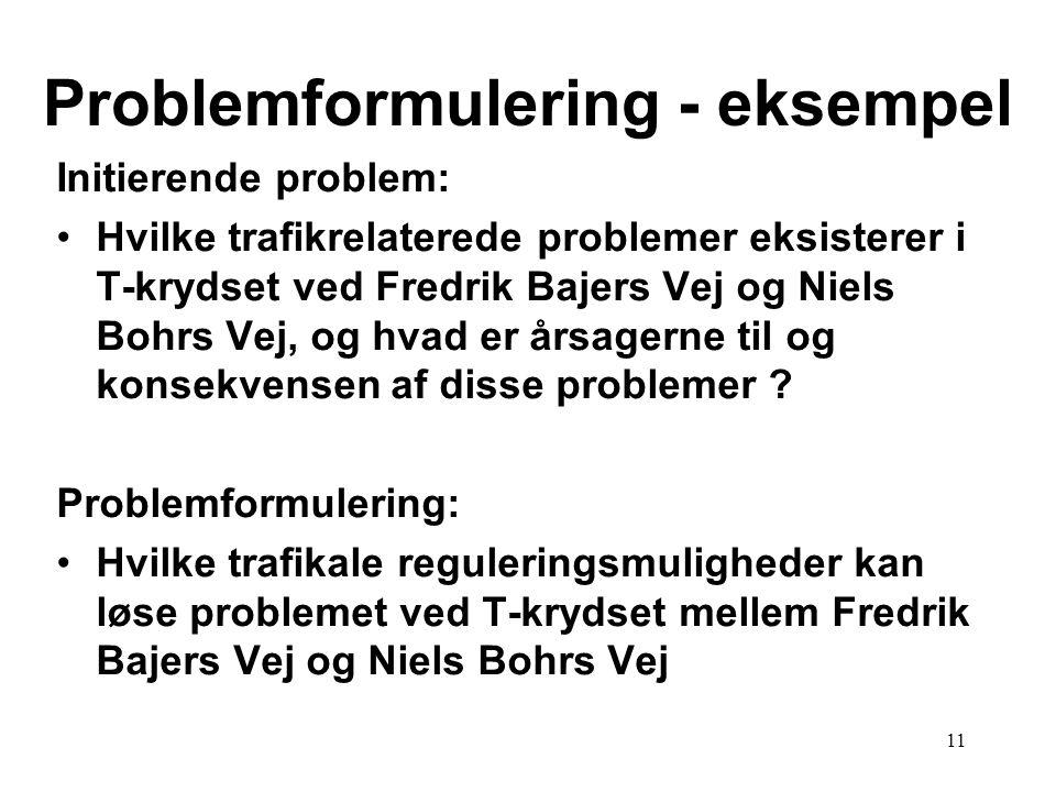 Problemformulering - eksempel