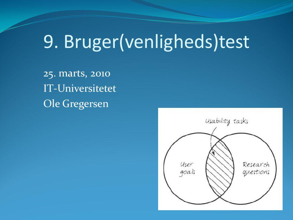 9. Bruger(venligheds)test