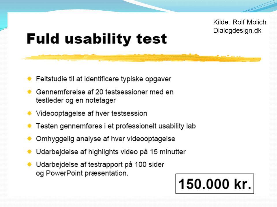 Kilde: Rolf Molich Dialogdesign.dk 15