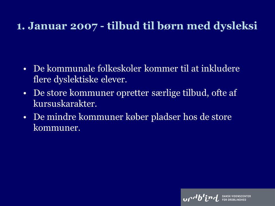 1. Januar 2007 - tilbud til børn med dysleksi