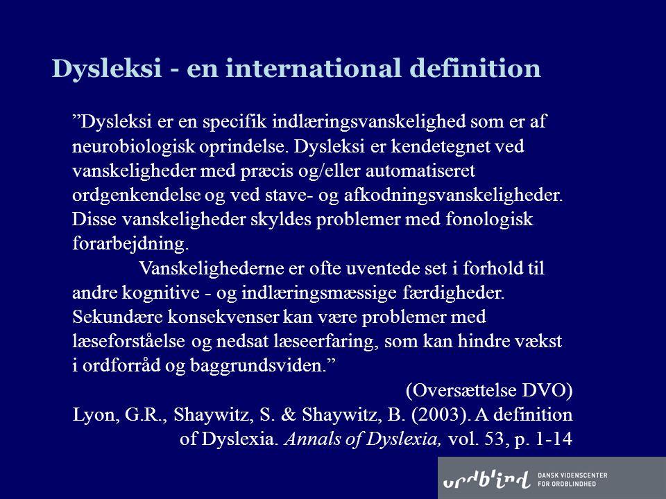Dysleksi - en international definition