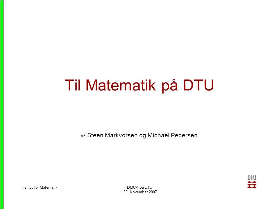 v/ Steen Markvorsen og Michael Pedersen