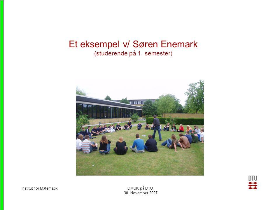 Et eksempel v/ Søren Enemark (studerende på 1. semester)
