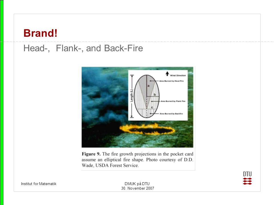 Brand! Head-, Flank-, and Back-Fire Institut for Matematik DMUK på DTU