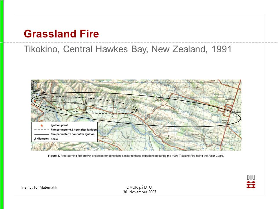 Grassland Fire Tikokino, Central Hawkes Bay, New Zealand, 1991