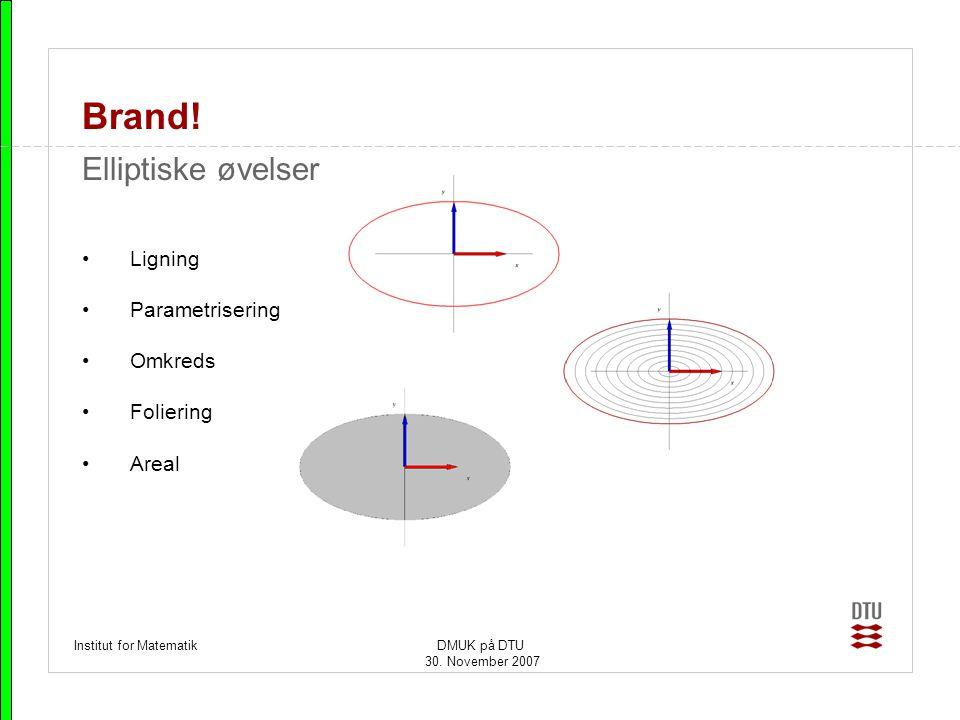 Brand! Elliptiske øvelser Ligning Parametrisering Omkreds Foliering
