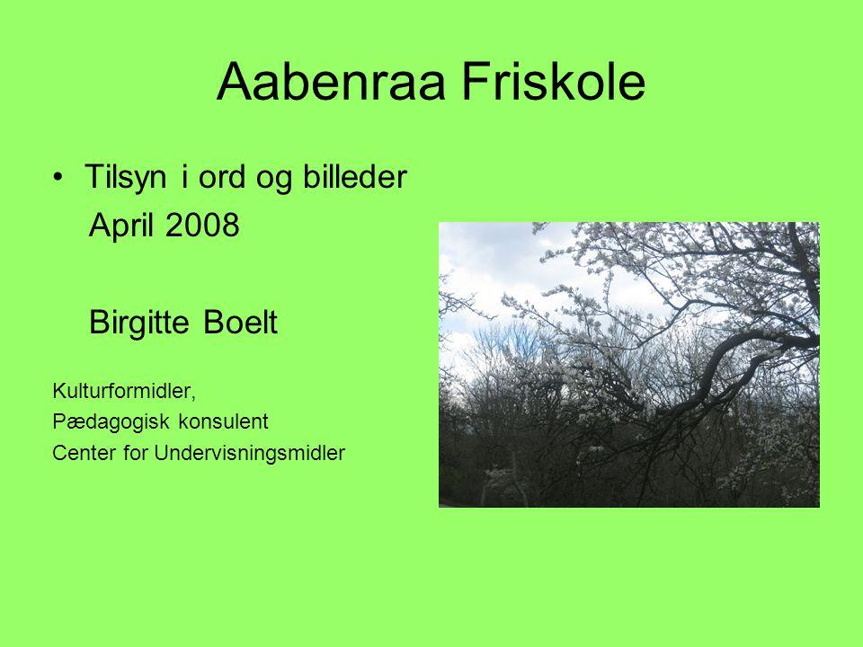 Aabenraa Friskole Tilsyn i ord og billeder April 2008 Birgitte Boelt