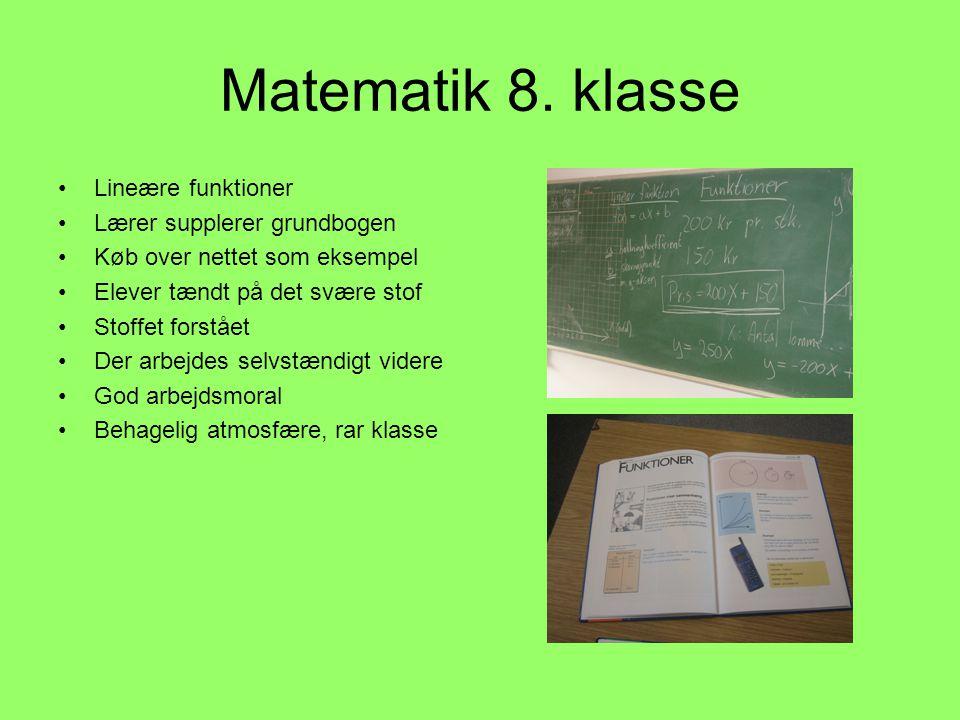 Matematik 8. klasse Lineære funktioner Lærer supplerer grundbogen