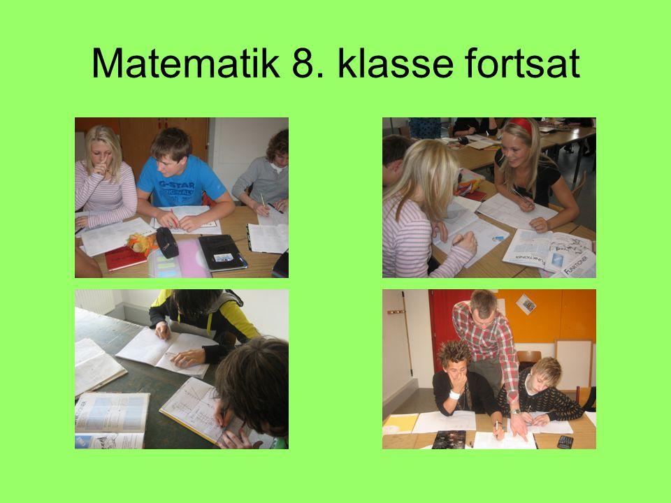 Matematik 8. klasse fortsat