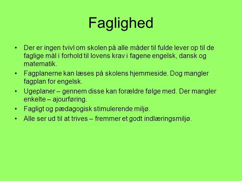 Faglighed
