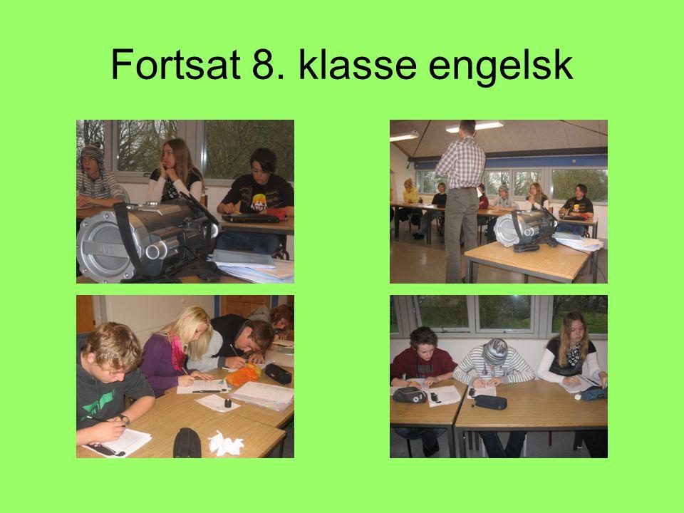 Fortsat 8. klasse engelsk