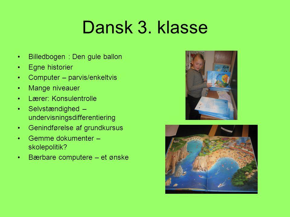 Dansk 3. klasse Billedbogen : Den gule ballon Egne historier