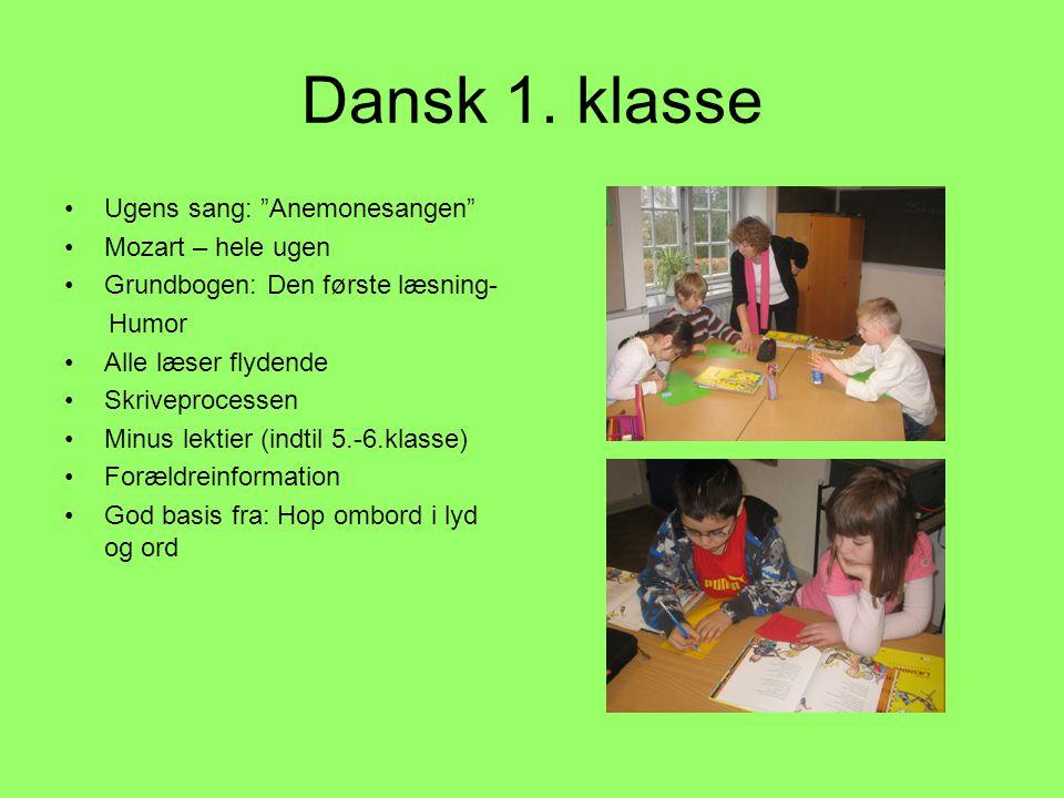 Dansk 1. klasse Ugens sang: Anemonesangen Mozart – hele ugen