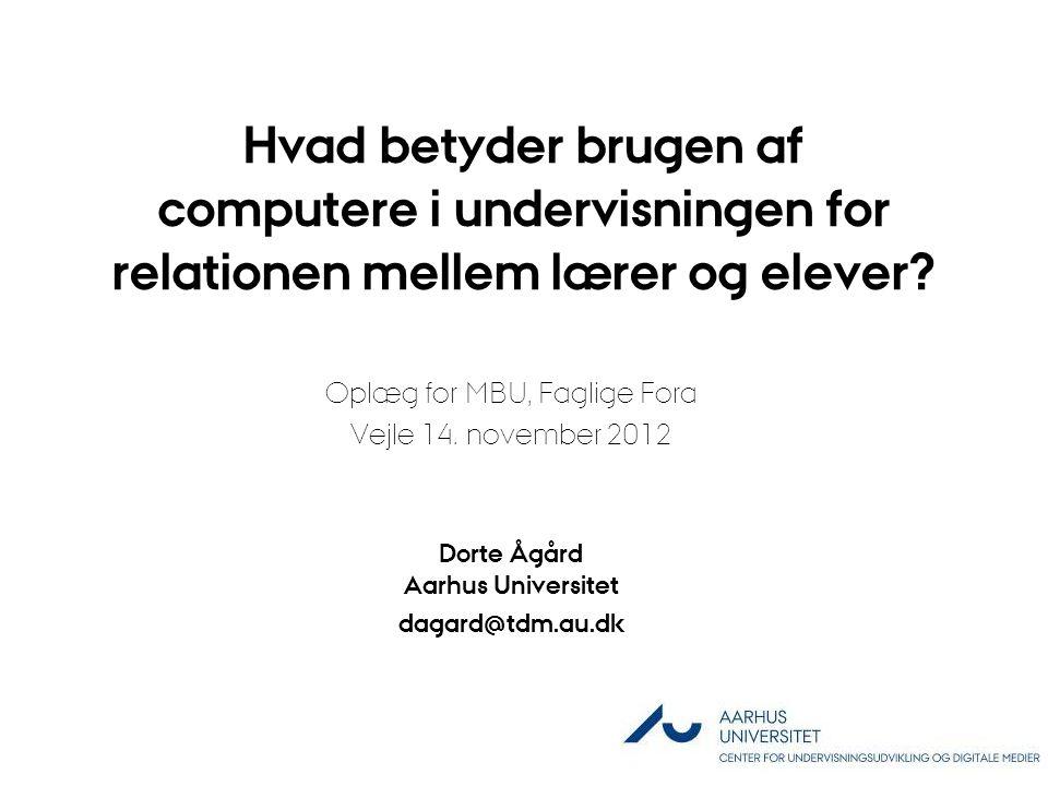 Dorte Ågård Aarhus Universitet