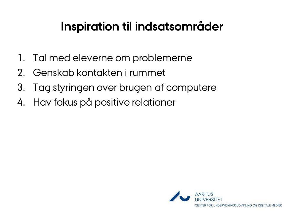 Inspiration til indsatsområder