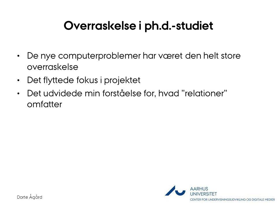 Overraskelse i ph.d.-studiet