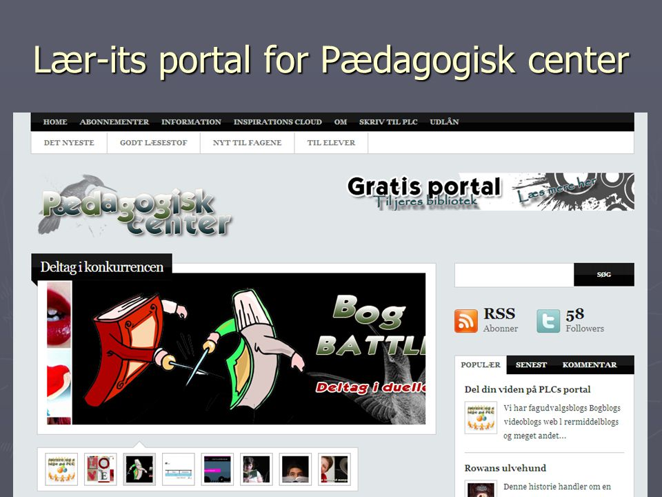 Lær-its portal for Pædagogisk center